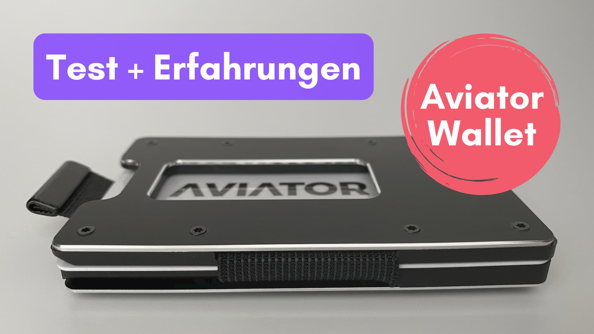 Aviator Wallet: Kreditkartenetui mit Münzfach und RFID-Schutz